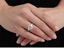 Round Brilliant-Cut Diamond Ring, 3.06 Carat E/VS-2, in Platinum