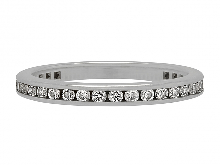 Tiffany & Co. Channel-Set Diamond Eternity Band in Platinum
