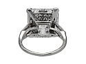 Art Deco Asscher-Cut Diamond Ring, 11.08 carat K/VS-1, in Platinum