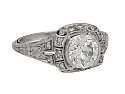 Art Deco Diamond Ring in Platinum