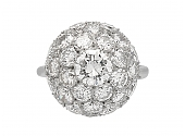 Diamond Ball Ring in Platinum