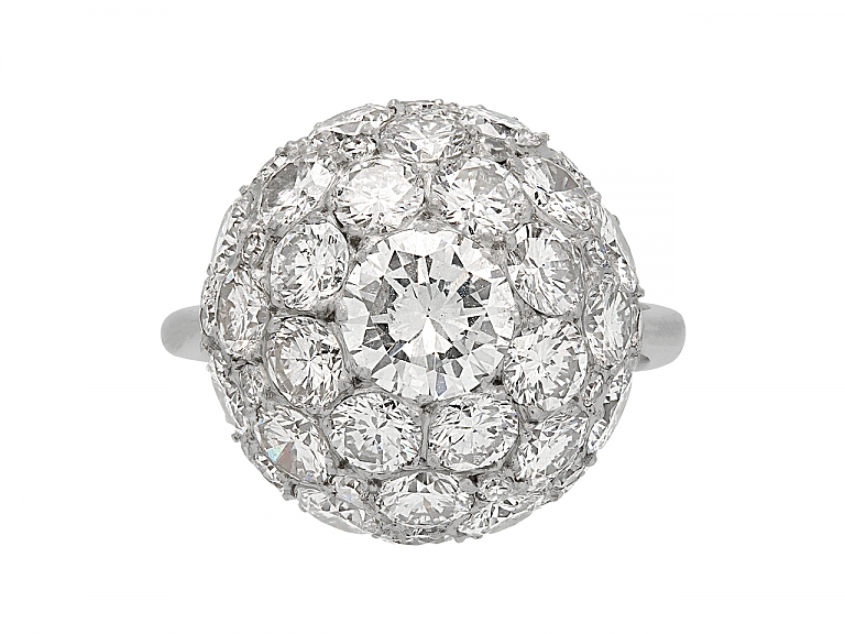 Video of Diamond Ball Ring in Platinum