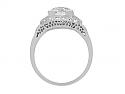 Art Deco Transitional-Cut Diamond Ring, 1.62 carats I/SI-1, in Platinum