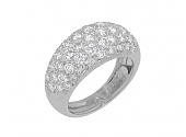 French Boule Ring in Platinum