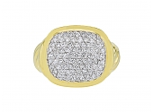 David Yurman 'Noblesse' Pave Diamond Ring in 18K Gold