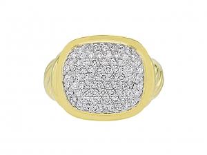 David Yurman 'Noblesse' Pave Diamond Ring in 18K Gold