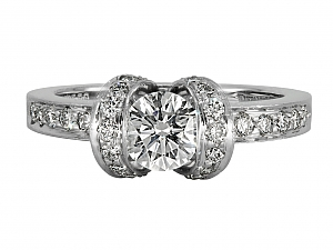 Tiffany & Co. Diamond 'Ribbon' Ring in Platinum