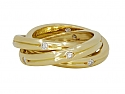 Cartier 'Constellation' Rolling Ring with Diamonds in 18K