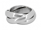 """Cartier """"Trinity"""" Ring in Platinum, Large"""