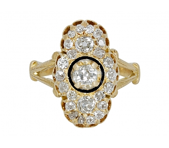 Antique Victorian Diamond Ring in 14K Gold