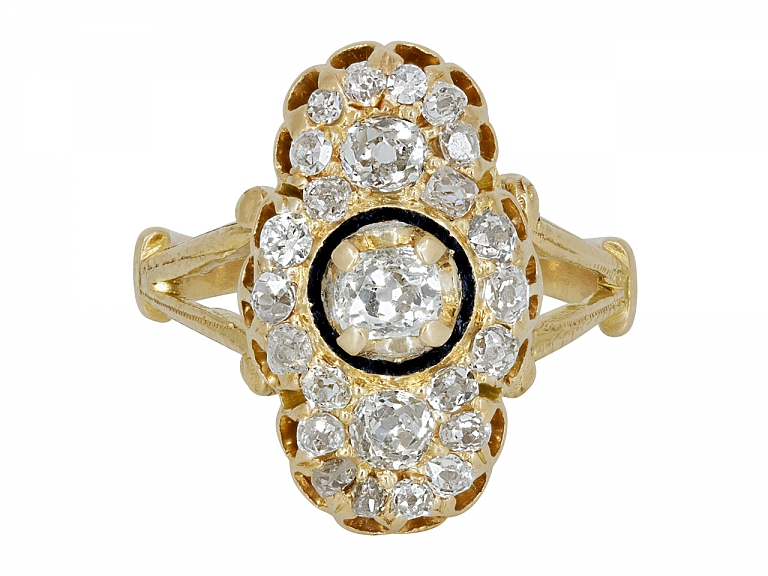 Video of Antique Victorian Diamond Ring in 14K Gold
