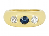 Sapphire and Diamond Ring in 18K