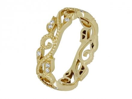 Rhonda Faber Green 'Vine' Diamond Ring in 18K Gold
