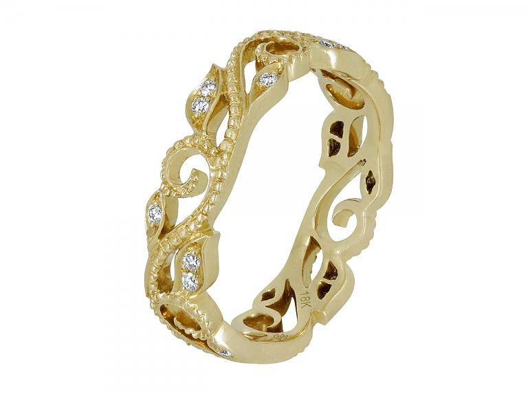 Video of Rhonda Faber Green 'Vine' Diamond Ring in 18K Gold