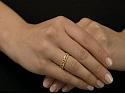 Rhonda Faber Green 'Vine' Diamond Ring in 18K Gold