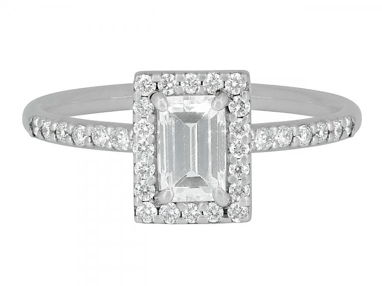 Video of Rhonda Faber Green Baguette Diamond Ring in 18K