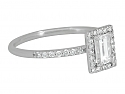Rhonda Faber Green Baguette Diamond Ring in 18K