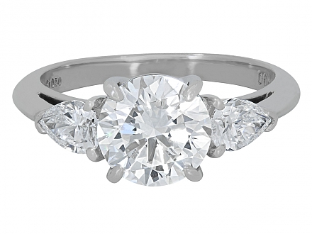 Tiffany & Co. Diamond Ring, 2.04 Carat E/VS1, in Platinum