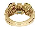 Bulgari 'Allegra' Multi Colored Gemstone and Diamond Ring in 18K Gold
