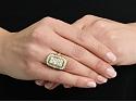 Edwardian Diamond and Demantoid Garnet Ring in 14K Gold
