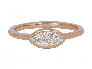Beladora 'Bespoke' Marquise Diamond Ring in 18k Rose Gold