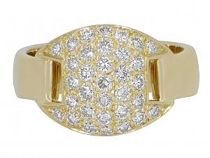 Hermès Diamond Band Ring in 18K Gold, Size 54