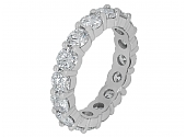 Transitional-cut Diamond Eternity Band, 3.93 total carats, in Platinum