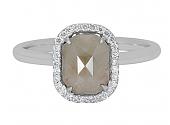 Rhonda Faber Green 'Raw' Diamond Halo Ring in 18K