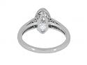 Beladora 'Bespoke' Moval Diamond Ring, 1.44 carat D/SI-1, in Platinum