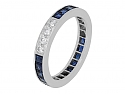 Tiffany & Co. Diamond and Sapphire Eternity Band in Platinum