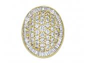 Pavé Diamond Ring in 18K Gold