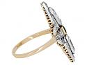 Antique Edwardian Emerald Ring in Platinum over 18K Gold