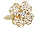 Van Cleef & Arpels 'Cosmos' Diamond Ring in 18K Gold, Medium Model