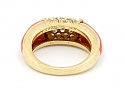 Van Cleef & Arpels 'Philippine' Coral and Diamond Ring in 18K Gold