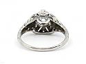 Art Deco Transitional-cut Diamond, 1.08 carat, and Sapphire Ring in Platinum