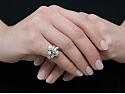 Retro Diamond Ring in Platinum