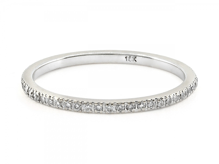Video of Diamond Micro-Pavé Band in 18K White Gold