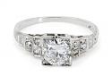 Edwardian Diamond Ring in 18K White Gold