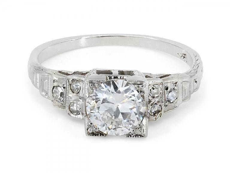 Video of Edwardian Diamond Ring in 18K White Gold