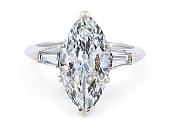 Marquise Diamond Ring in Platinum, 3.24 carat G/VS-1