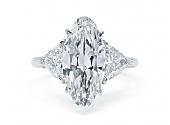 Marquise 'Moval' Diamond Ring in Platinum, 3.70 carat I/VS-1