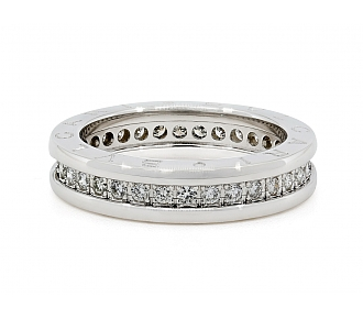Bulgari B.zero1 Diamond Band in 18K White Gold