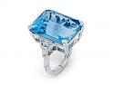 22.22 Carat Aquamarine and Diamond Ring in Platinum and 14K White Gold