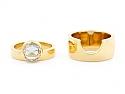 Jacqueline Rabun Rose-cut Diamond 'We Ring', 1.58 ct E/VS1, and Band in 18K Gold