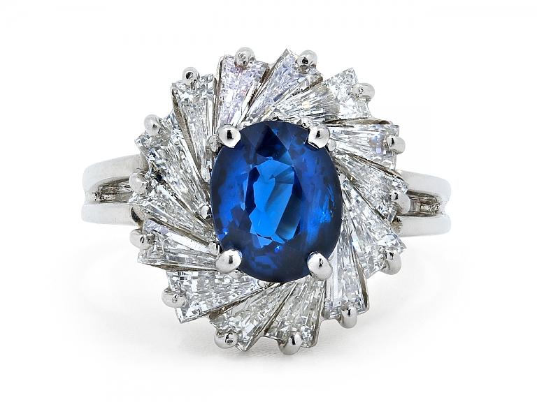 Video of Oscar Heyman Sapphire, 2.04 carat, and Diamond Ring in Platinum