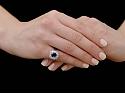Oscar Heyman Sapphire, 2.04 carat, and Diamond Ring in Platinum