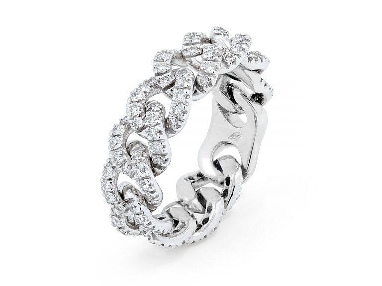 Video of Diamond Link Ring, by Beladora, in 18K White Gold
