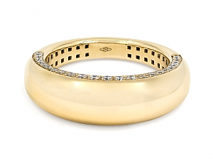Bombé Gold Ring, with Diamonds, in 18K, by Beladora
