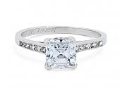 Tiffany & Co. Art Deco Asscher-cut, 1.21 carat D/VS-1, Diamond Ring in Platinum