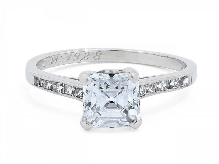 Video of Tiffany & Co. Art Deco Asscher-cut, 1.21 carat D/VS-1, Diamond Ring in Platinum